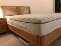 Kingsize Nord Oak Bed Frame + Bedside table (Debenhams) rrp £1200+