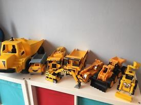 Children's collection of JCB's, trucks and diggers