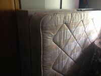 Double divan bed (base and mattress)