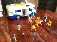Playmobil campervan and all accessories. Very good condition