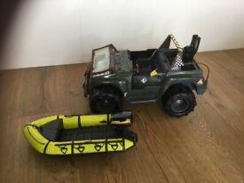 Action Man Army Jeep and Dinghy