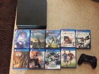 Sony Playstation (PS4) Slim 500GB with 9 Games - Inc Horizon , Battlefield