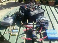 Fpv raceing drones(x2) fullset up with f.p.v goggles