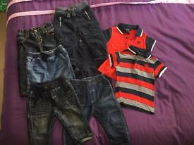 Baby trousers & tops different sizes