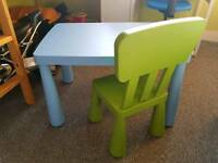 IKEA MAMUT CHAIR AND TABLE