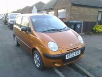 DAEWOO MATIZ CHEVROLET 800cc 5 DOORS MOT CHEAP INSURANCE.