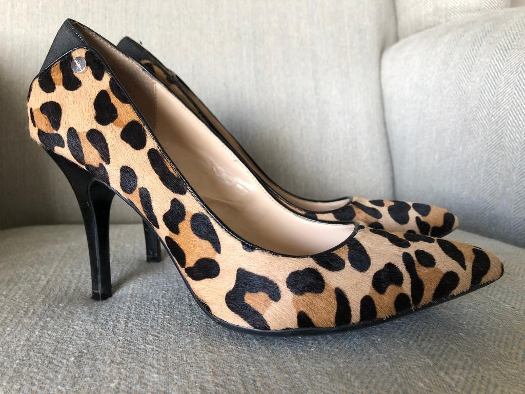 0dac99f1dd9 Calvin Klein leopard print heels VGC
