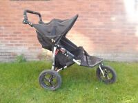 Out N About 360 Nipper V3 Raven Black Double Pram Pushchair