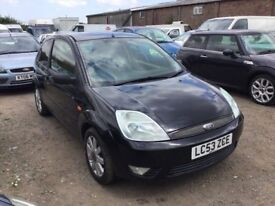 2004 FORD FIESTA BLACK WITH BLACK LEATHER LONG MOT GOOD DRIVER CAME IN PX TODAY ANYTRIAL WELCOME
