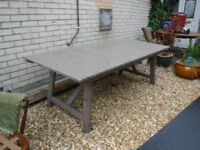 Very Long Garden/Dining Table - seat 8/10