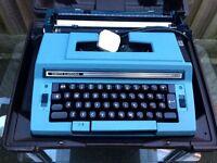 Vintage Smith-Corona C400 Sterling Portable Electric Typewriter VGC Blue