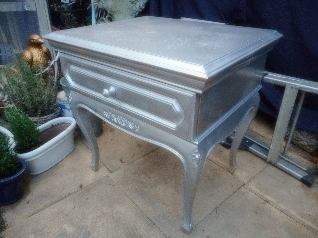 bed side table or lamp table with drawer
