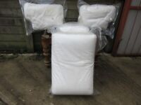 NOW SOLD - IKEA EKTORP WHITE/CREAM 3 SEATER SOFA CUSHIONS - no sofa - just cushions! - NOW SOLD