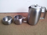 """Old Hall"" stainless steel tea set"