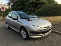 Peugeot 206 1.1 S. 5 door. A very clean and good running car. MOT Jan and Service History