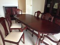 Dining Room Table, Chairs, Sideboard, Corner Display Cabinet & TV/Drinks Cabinet