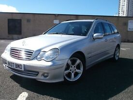 2007 MERCEDES-BENZ C200 DIESEL ESTATE AUTO MOT FULL YEAR 2 KEEPERS SILVER BLUE TOOTH HANDS FREE 2