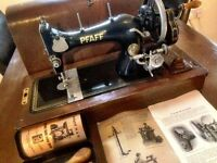 PFAFF Model 11 Antique sewing machine with Original Accessories