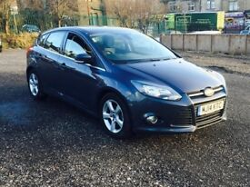 2014 Ford Focus 1.6 TDCi Zetec Navigator 5dr (start/stop) diesel grey***one owner**fsh