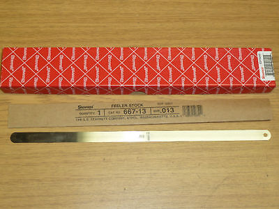 New Starrett 667-13 Thickness Gauge Feeler Stock .013