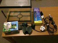 Small Fish Tank, Heater and Filter