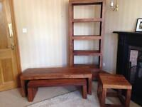 Marks and Spencer living room set - bookcase, side table and 2 coffee tables