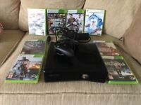 Xbox 360 - 200GB with 8 Games