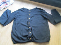 GIRLS BLACK CARDIGAN - FROM H&M - AGE 6-8