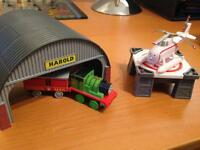 Tomy Trackmaster Harold at the Hanger