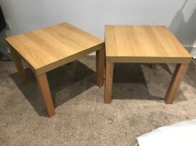 2 x ikea side tables