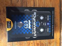 DynaVerb High Dynamics Stereo Reverb Pedal Brand New with Packaging