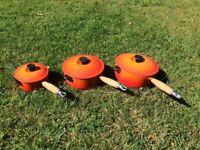 Le Creuset Volcanic Orange Pans x 3