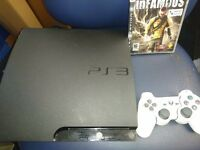 320gb ps3 slim and Infamous