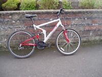 "Mountain Bike,20"" Frame,26"" Alloy Wheels,F+R Suspension, FULLY SERVICED."
