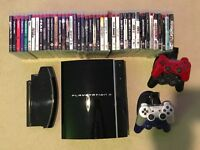 PS3 80Gb - Fully Functioning with 43 Games, Controllers and Media Remote