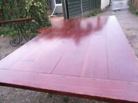 Great solid wooden dining table with four chairs, coffe table and side table