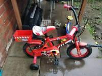 """12"""" boys bike for 2-4yr olds"""