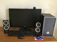 HP Pavilion Desktop 590-a0017na AOC Monitor Keyboard Mouse Webcam Windows 10