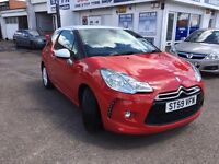 Stunning low mileage Citroen DS3 in Red with a White Roof
