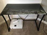 Glass Top Computer Desk