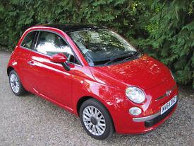 Fiat 500 Lounge, September 2014, 1 lady owner from new, only 20118 miles, manual, petrol, Av. 59 mpg