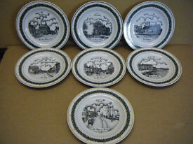 "Set of 7 Collectable Plates ""6 WAREHAM & 1 POOLE"". Decor Art Creations Ltd 1990s. Great condition."