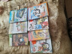 Assorted games and dvd's
