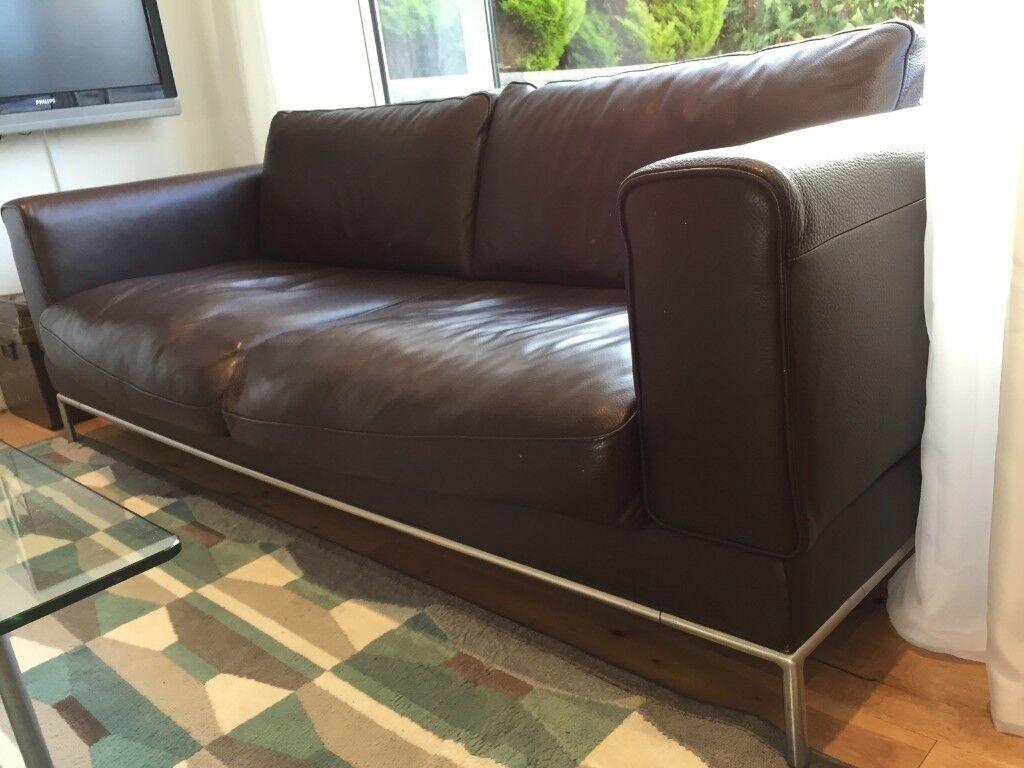 Ikea Arild Brown Leather Sofa Chair In Penarth Vale Of Glamorgan