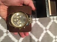 Michael Kors Lexington Gold Chronograph Watch