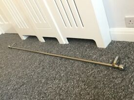Chrome Extended Curtain Pole, in excellent condition!