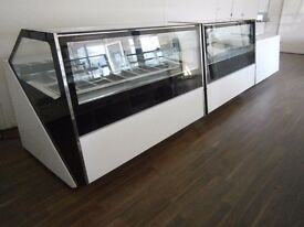 Coffee Shop Counter / Ice Cream Counter Scoop Freezer / Patisserie Display Case