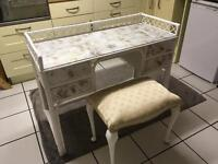 Beautiful bamboo dressing table with seat.