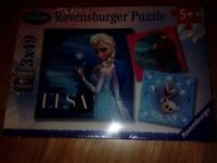 3 X Frozen Jigsaw Puzzles by Ravensbuger - New & sealed