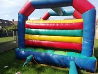 Bouncy castle with a brand new blower